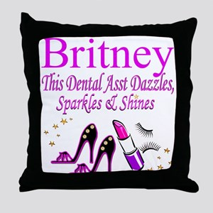 TOP DENTAL ASST Throw Pillow